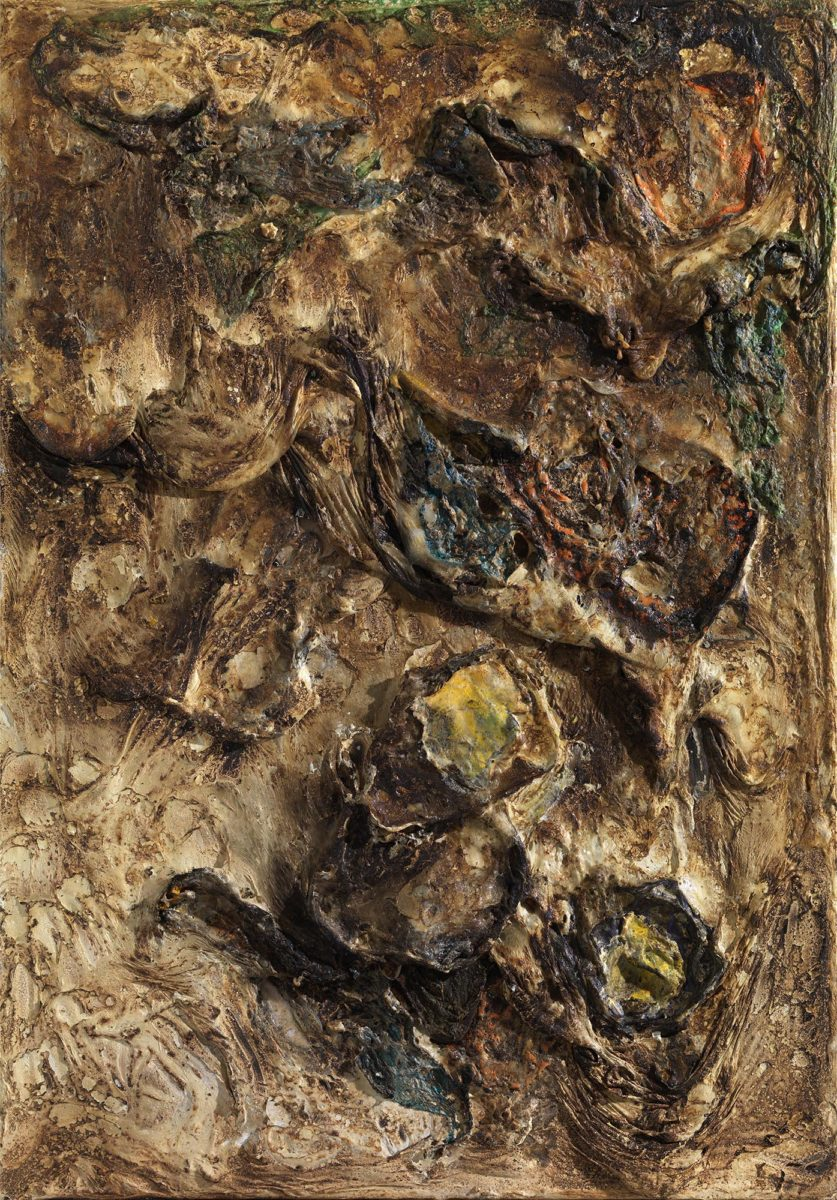 Mixed Media on canvas. Burned materials- resins -plastic -  earth and  cement. Dimensions:  70X100